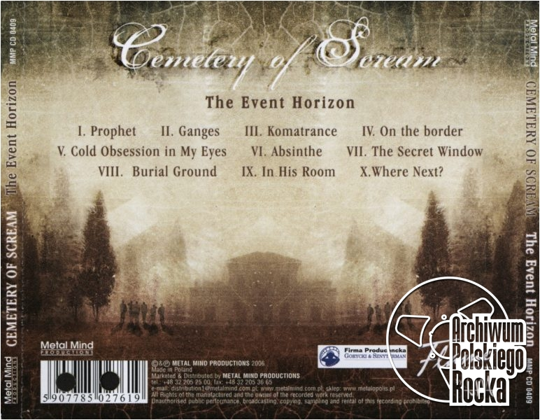 Cemetery Of Scream - The Event Horizon