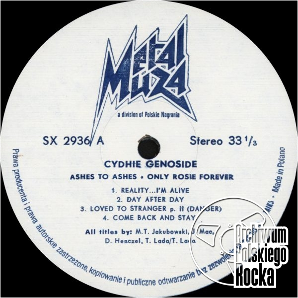 Cydhie Genoside - Ashes to ashes Only Rosie Forever