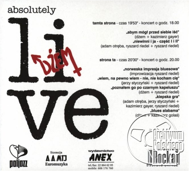 Dżem - Absolutely Live