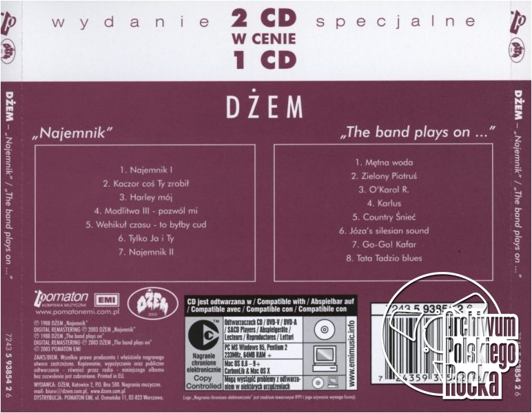 Dżem - Najemnik / The Band Plays On