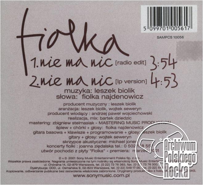 Fiolka - Nie ma nic