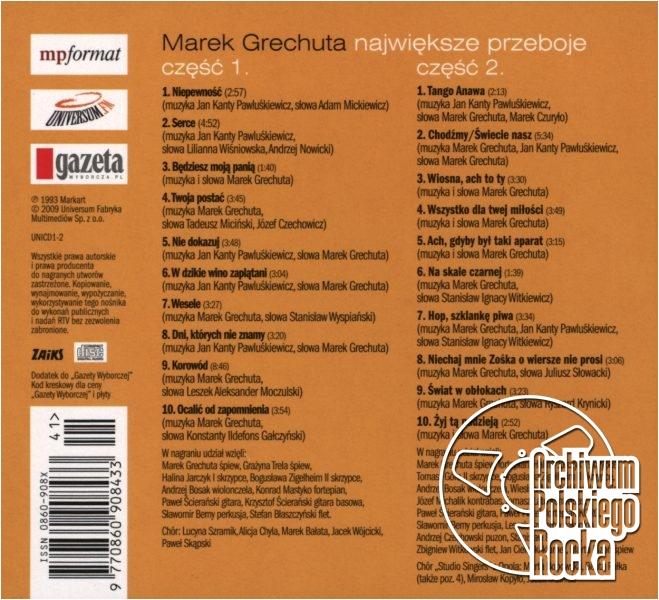 Marek Grechuta - Dni, których nie znamy