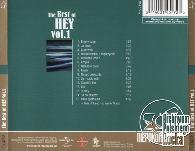 Hey - The Best Of vol. 1