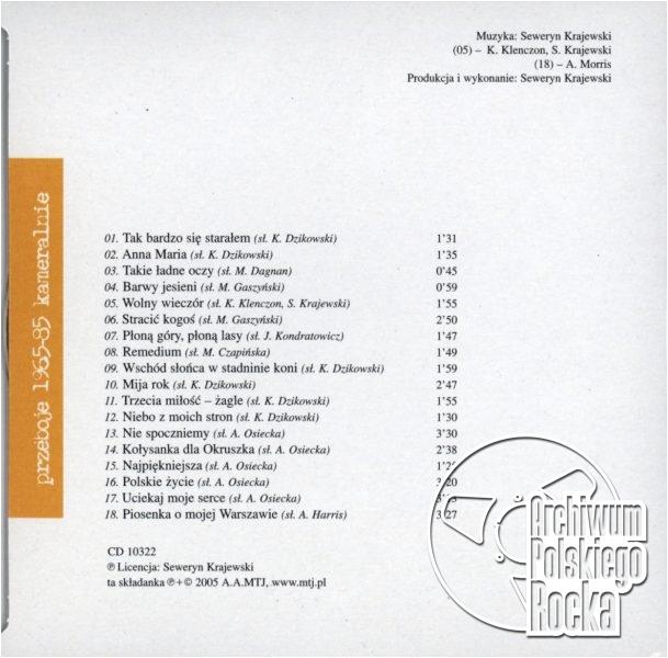 Krajewski, Seweryn - Przeboje 1965 - 85