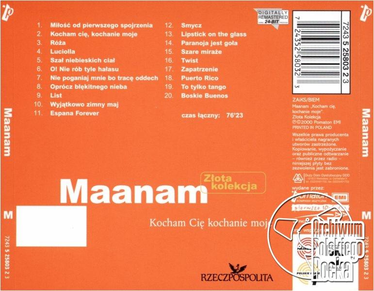 Maanam - Kocham cię kochanie moje