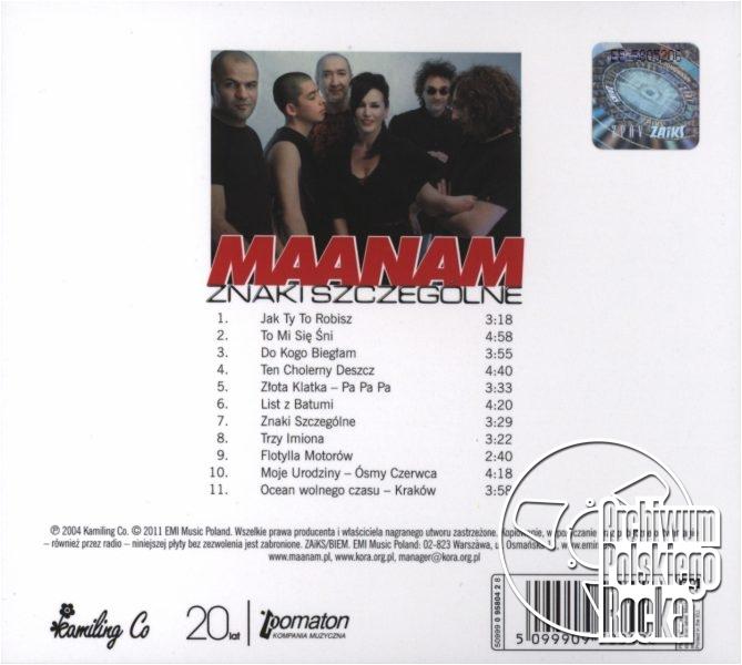 Maanam - Znaki szczególne