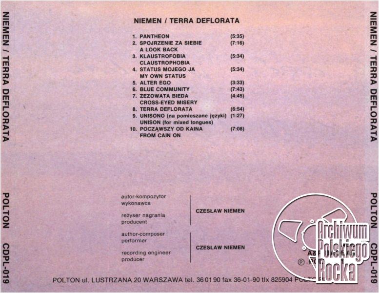 Niemen, Czesław - Terra Deflorata