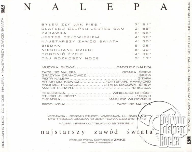 Nalepa, Tadeusz - Najstarszy zawód świata