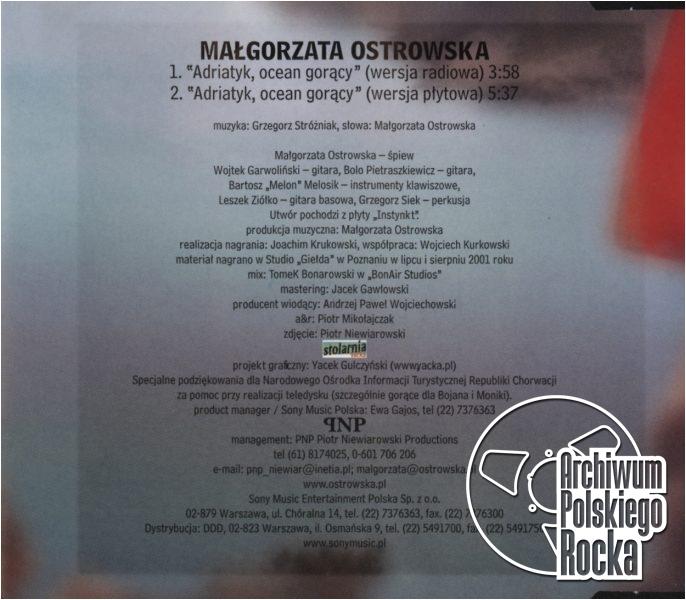 Małgorzata Ostrowska - Adriatyk ocean gorący