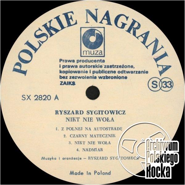 Ryszard Sygitowicz - Nikt nie woła