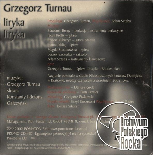 Grzegorz Turnau - Liryka, liryka