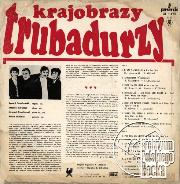 Trubadurzy - Krajobrazy